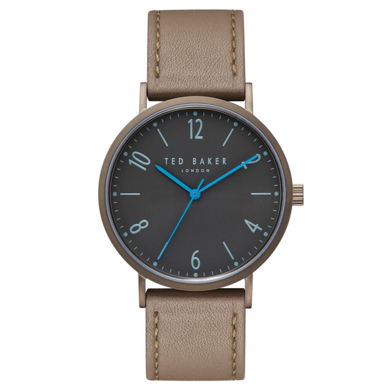 Ted Baker – HANK Green Leather Strap Watch in Presentation Gift Box