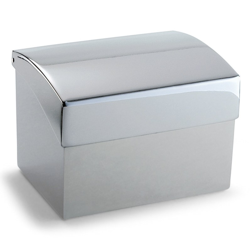 """Philippi – Silver """"Clip"""" Business Card Box/Holder with Index in Presentation Box"""
