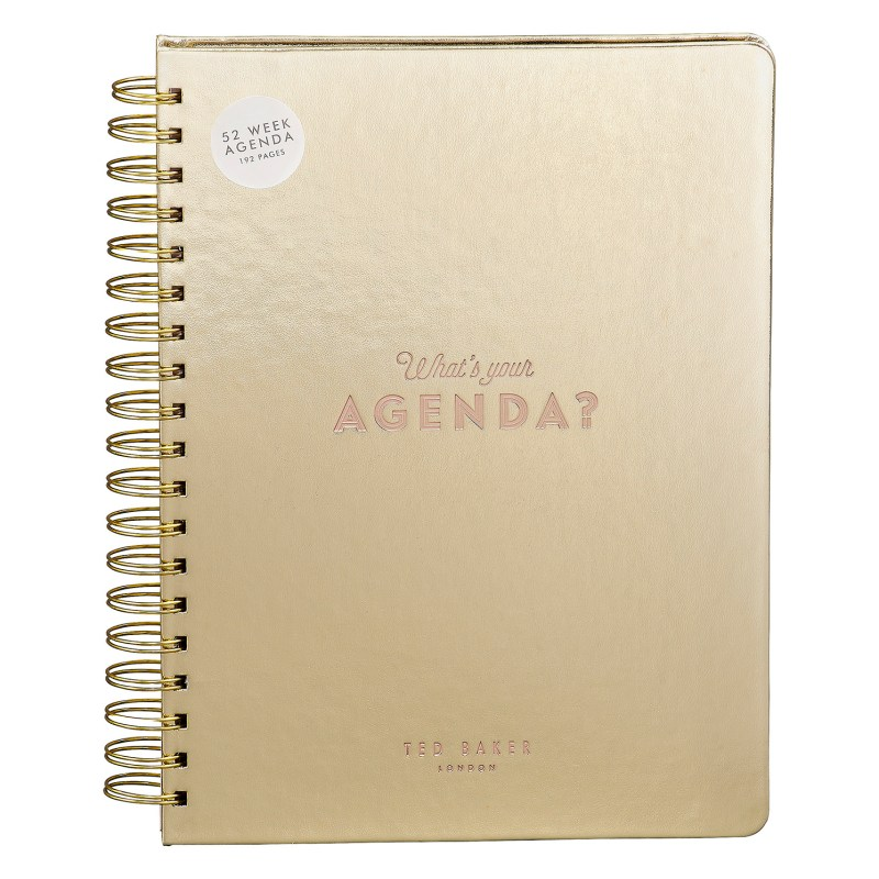 """Ted Baker – Gold 52 Week """"Truly Gifted"""" Agenda/Notebook"""