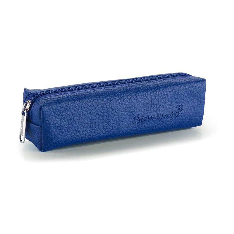 Bombata – Cobalt Blue Classic Pen/Pencil Case with Zip Closure