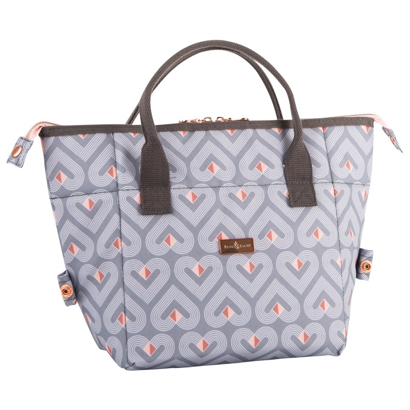 Beau & Elliot – Vibe Grey Convertible Lunch Tote Bag & Matching Drinks Bottle