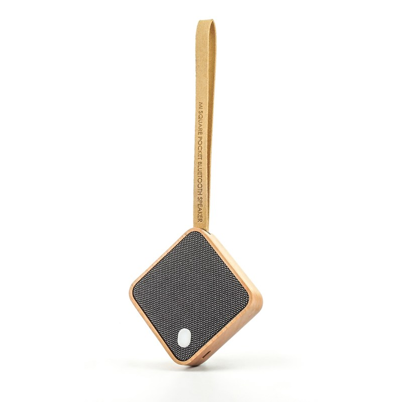 Gingko – Mi Square Pocket Bluetooth Speaker in Gift Box – Cherry