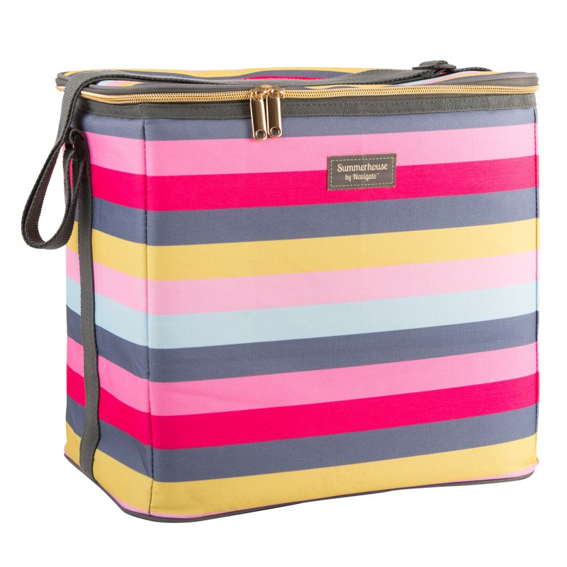 Navigate – Summerhouse Gardenia Stripe 20L Family Insulated Cool Bag