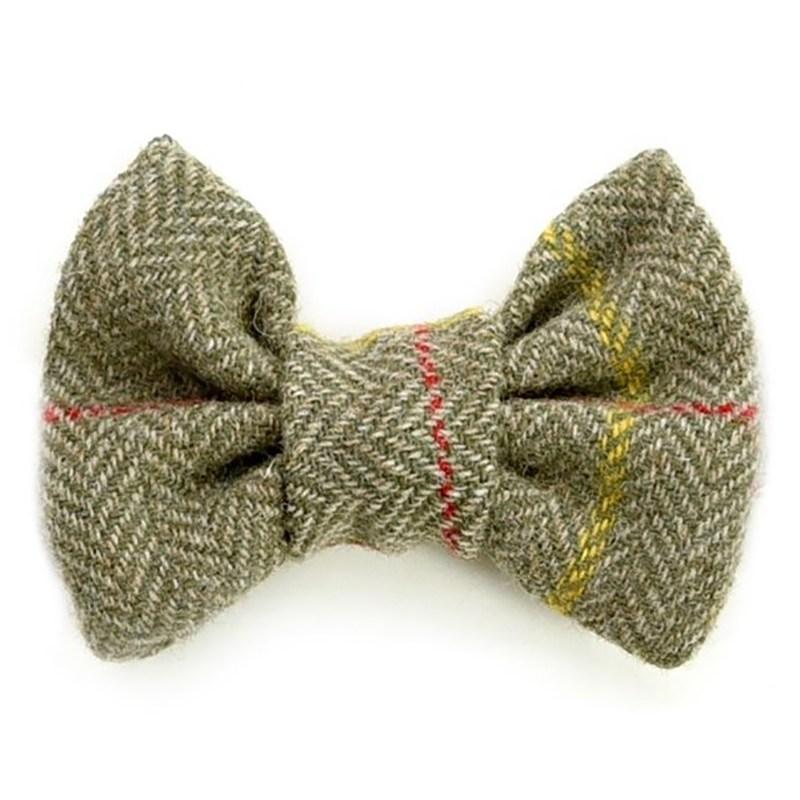 Tweedmill – Olive Tweed Dog Bow Tie