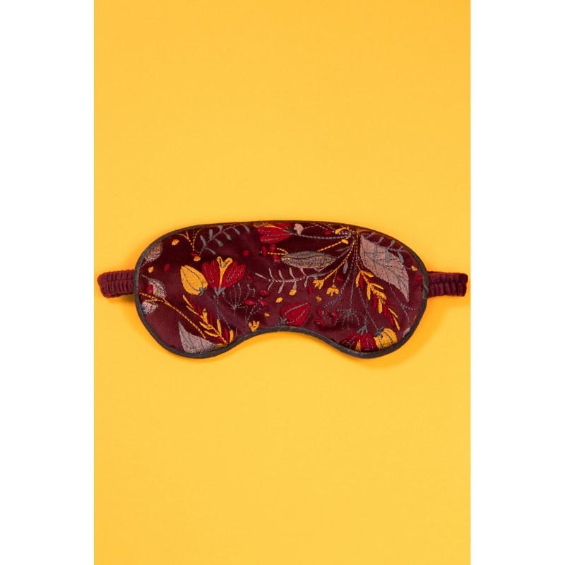 Powder – Floral Damson Luxury Lavender Filled Velvet Eye Mask in Velvet Pouch