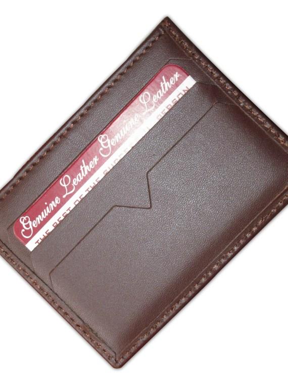 Card Holder Dark Brown Flip