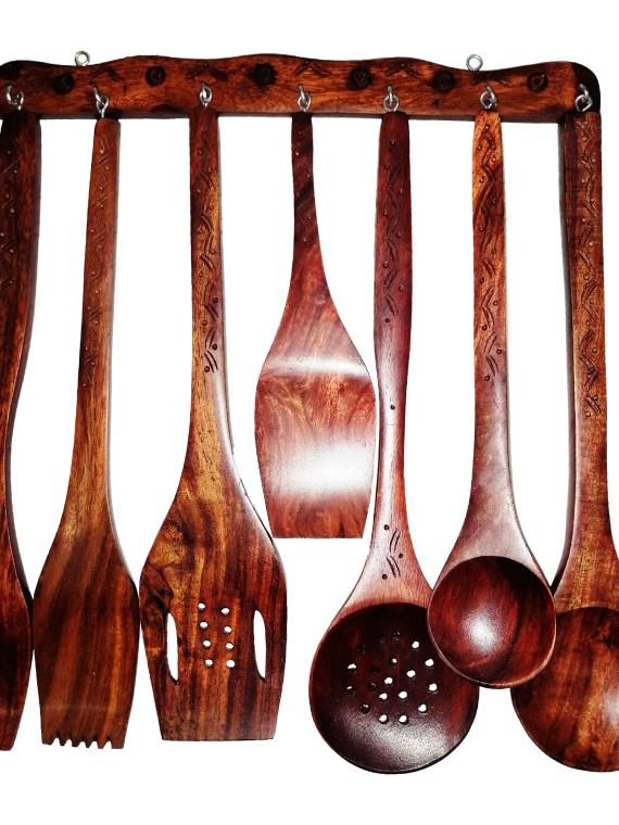 Cooking Utensils sets Wooden – Hand Carved