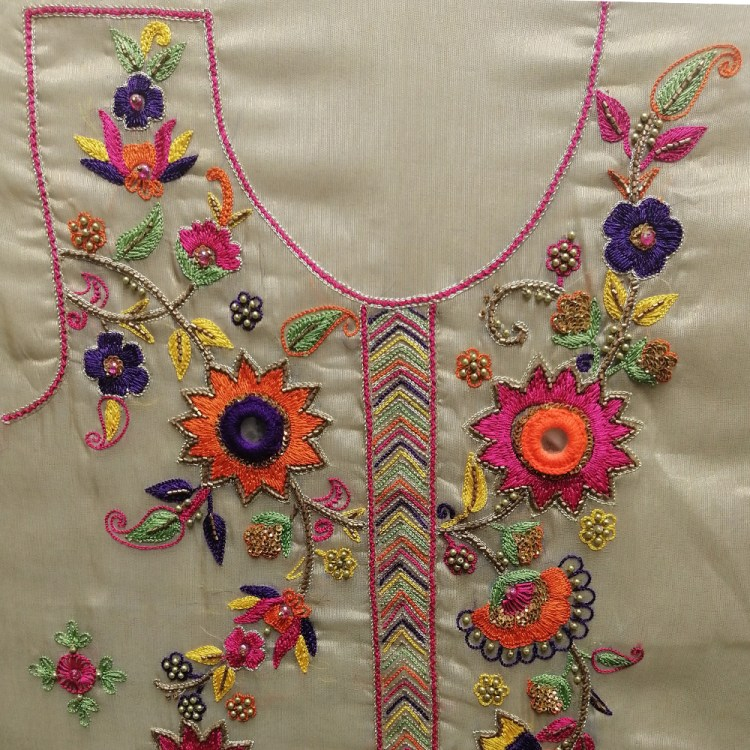 Female shirt with front Embroidery