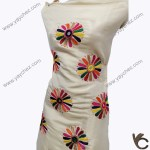Hand Made Embroidered shirt for women shining in Skin golden