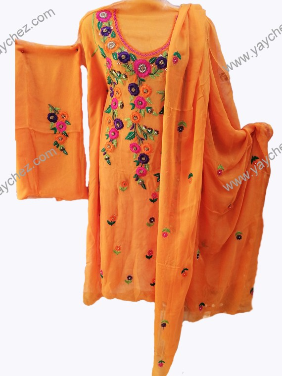 Hand Made shirt for female Pure Pk Orange (2)