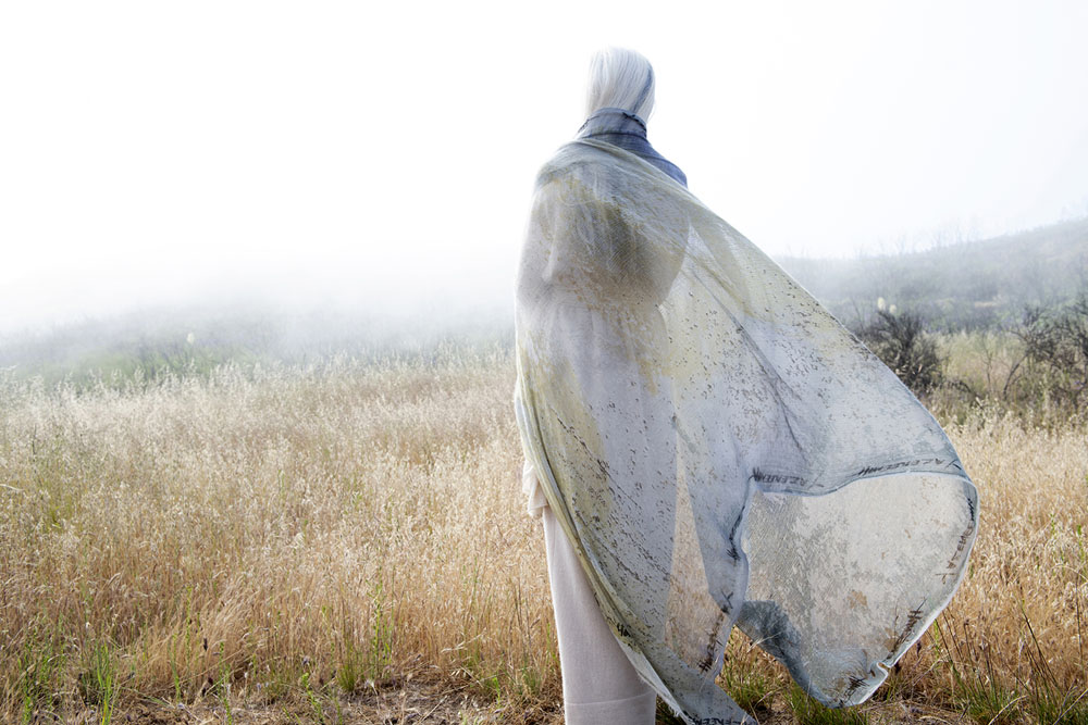 Yazemeenah standing in a Cashmere Shawls