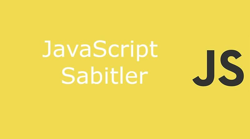 javascript sabitler