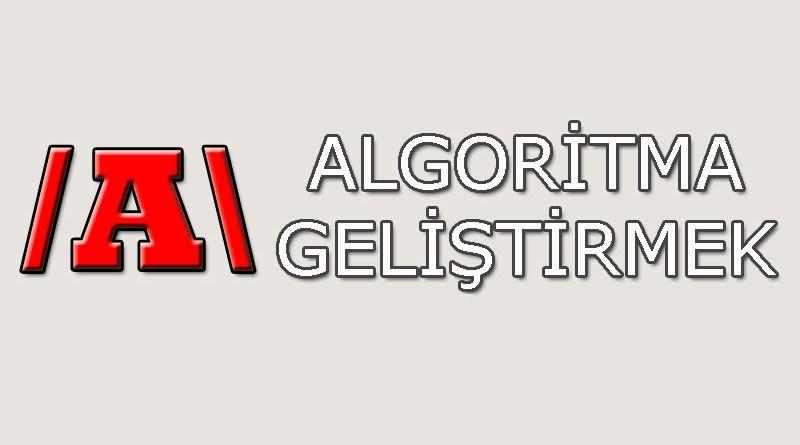Algoritma geliştirmek