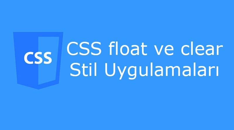 CSS float ve clear Özellikleri