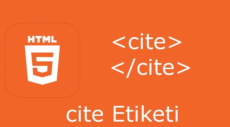 HTML cite etiketi