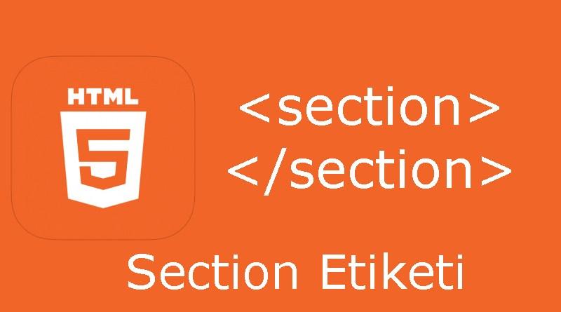 HTML section etiketi