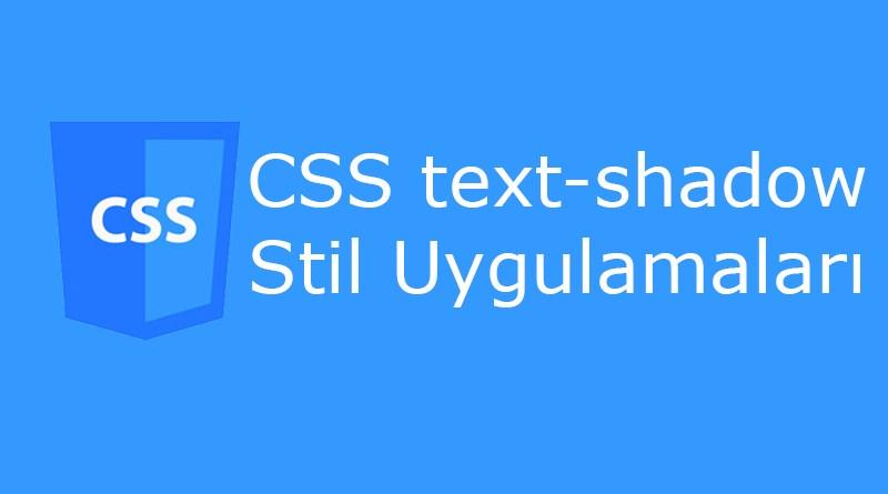 CSS text-shadow özelliği