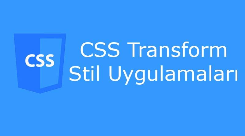CSS transform özelliği