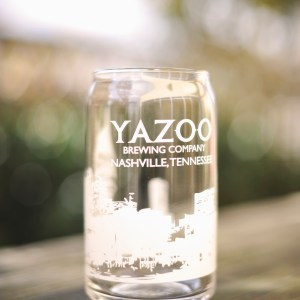 "Yazoo ""Nashville Skyline"" Can Glass"