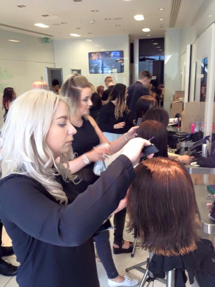 Yazz At Tigi Cutting Academy London