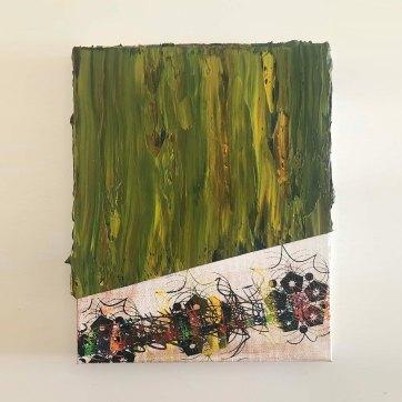 Sem título, óleo, acrílica e serigrafia sobre linho, 32x24cm, 2019