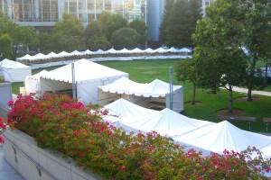 Photo of tents on the Yerba Buena Gardens Esplanade