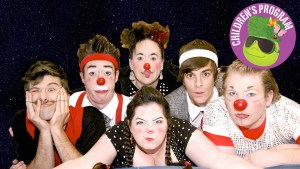 Photo of the Pi Clowns with Children's Program seal.