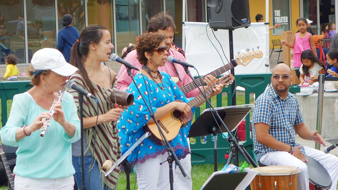 Photo of Venezuelan Music Project performing at Yerba Buena Children's Garden in San Francisco
