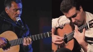 Photo of Guinga and photo of Marcus Tardelli