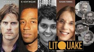 Photos of Peter Kline, D. Scot Miller, Pireeni Sundaralinga, Susan Terris, and The Dull Richards