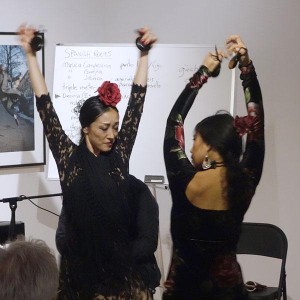 Photo of two flamenco dancers