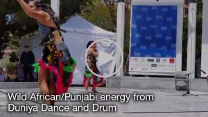 Click to watch Wild African-Punjabi energy from Duniya Dance and Drum