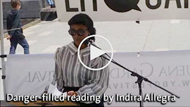 Photo of Indira Allegra from Litquake's Youtube video