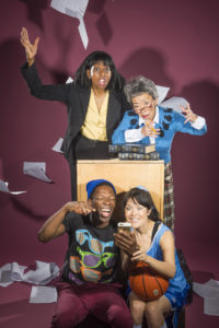 "photo for San Francisco Mime Troupe's ""Schooled"", photo by DavidAllenStudio.com"
