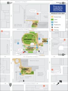 Yerba Buena Gardens Festival Production Map