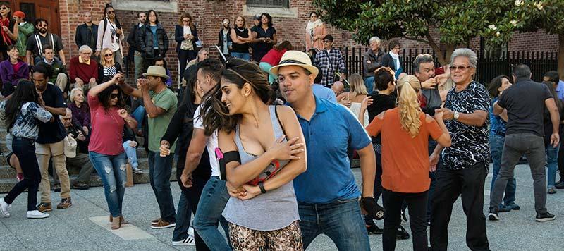 Photo of people salsa dancing at Yerba Buena Gardens Festival