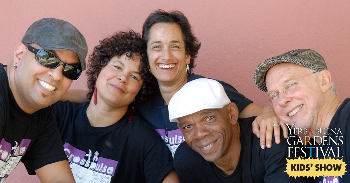Photo of body percussion music group Crosspulse