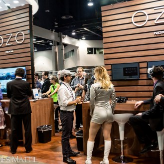 Las Vegas, NV - April 18, 2016: Visitors inspect the company's new virtual reality products at the NAB Show. Photo by James Mattil, YBLTV Writer / Reviewer / Photographer.