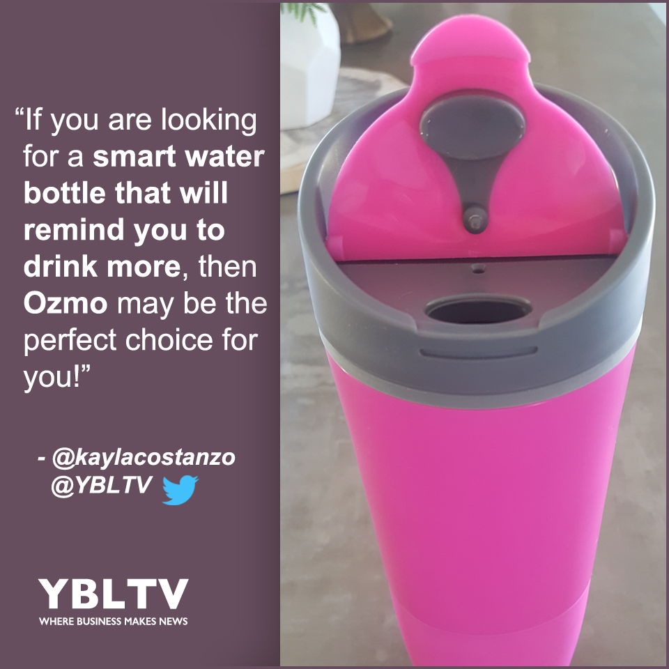 YBLTV Review: Ozmo Smart Water Bottle/Cup. Kayla Costanzo, YBLTV Writer / Reviewer.