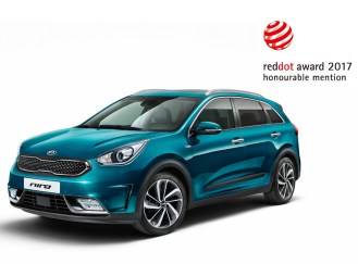 Kia Niro Reddot Award. Image Source: Kia Motors Corporation.
