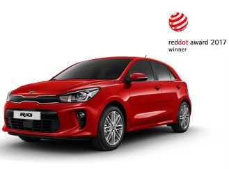 Kia Rio 2017 Reddot Award. Image Source: Kia Motors Corporation.