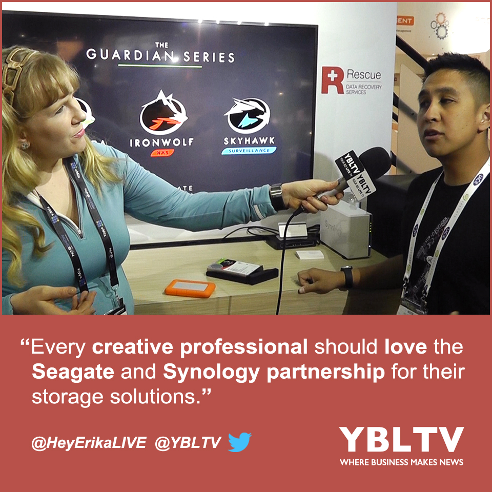 Seagate Technology, Product Marketing Manager, NAS HDD Segment, Jason Bonoan, chats with YBLTV Anchor, Erika Blackwell at the 2017 NAB Show, Las Vegas, NV.