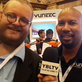 YBLTV Writer / Reviewer, Jack X with Yuneec USA, Inc.'s Territory Manager, Kevin Jones at InterDrone 2017.