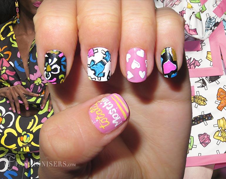 spring_2015_runway_inspired_nail_art_designs_Moschino_fashionisers