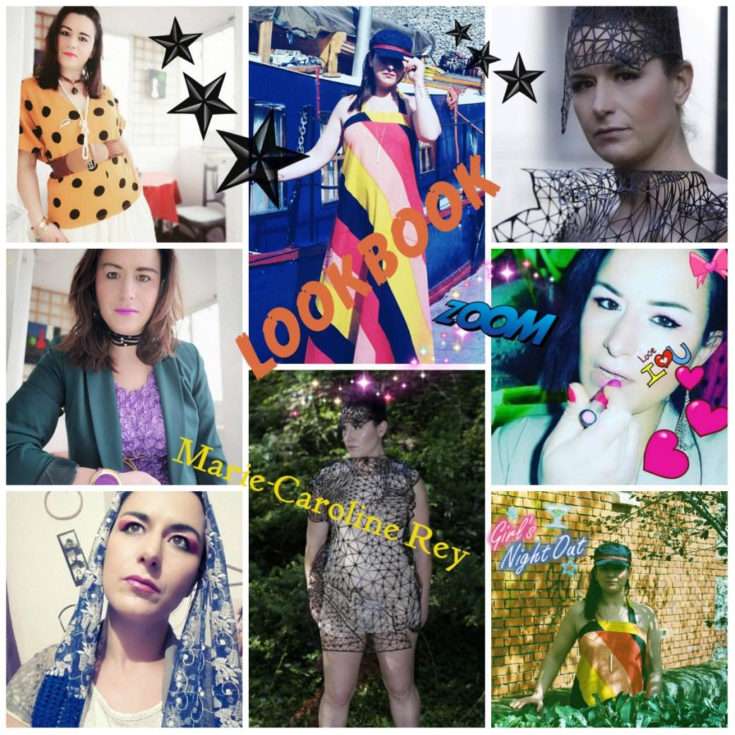 collage lookbook pour prestation Y.B Paris