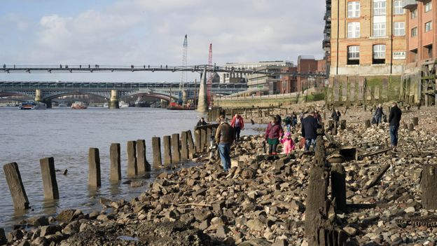 Mudlarks are making an important contribution to the study of London's history (Credit: Credit: Louis Berk/Alamy)