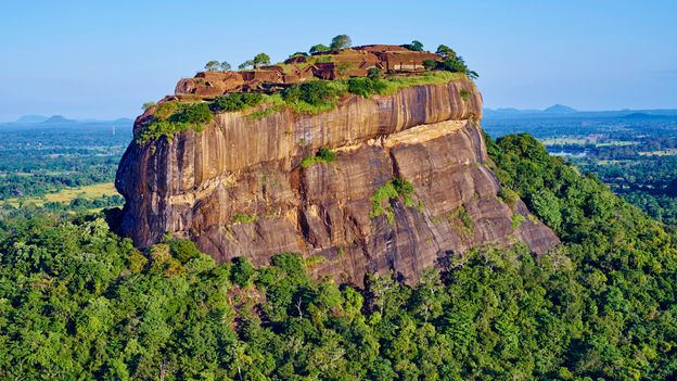 One expert suggested the chart may be a building plan for nearby Sigiriya, a 5th Century BC rock fortress (Credit: Credit: Anthony Asael/Art in All of Us/Getty Images)