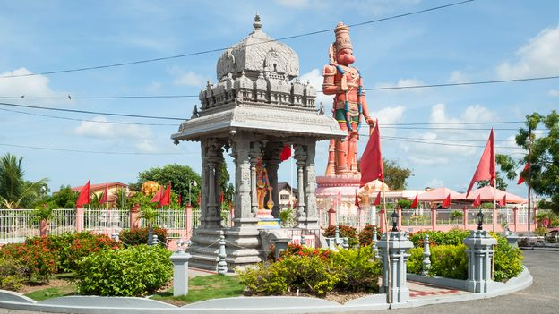 Many people from Trinidad & Tobago have deep ties to India, which is evident in the island's Hindu temple (Credit: Credit: CircleEyes/Getty Images)