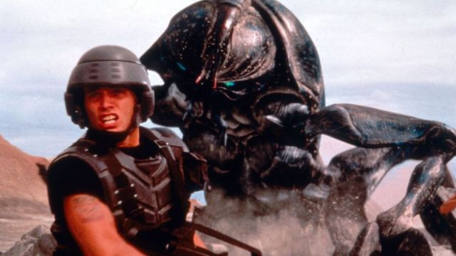 Starship Troopers is among Verhoeven's other US films that target the country's fetid socio-political landscape (Credit: Alamy)