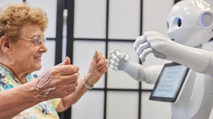 A robot named Pepper has been designed to interact with elderly people (Credit: Getty Images)